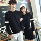 Couple Matching Contrast Trim Pullover / Pullover Dress