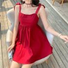 Sleeveless Mini Dress Red - One Size