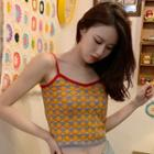 Patterned Knitted Camisole Top