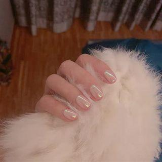 Faux Nail Tip 145 - Glue - Pink - One Size