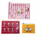 Snoopy Clear Pocket Pouch (3p) (friend) One Size