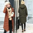 Star Hooded Padded Button Coat