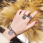 Alloy Coin Dangling Ring / Open Ring / Bracelet / Set
