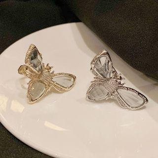 Faux Crystal Bee Open Ring