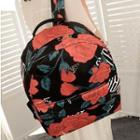 Canvas Floral Backpack
