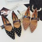 Studded Buckled Pointed Flats