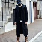 Long Buttoned Hooded Coat