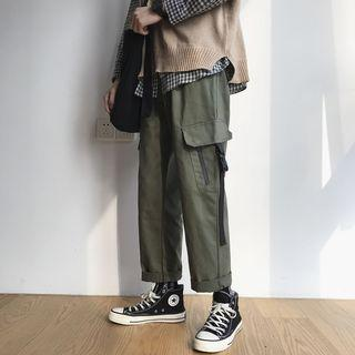 Cropped Cargo Straight-fit Pants