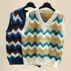 Wavy Patterned Knit Vest