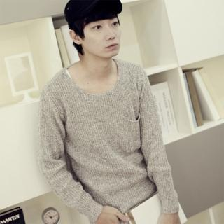Crew-neck Knit Top