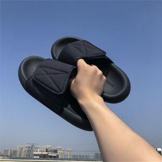 Adhesive Tab Flat Slide Sandals