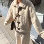 Long-sleeve Fleece Jacket Almond - One Size