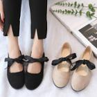Faux Suede Bow Flats
