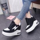 Flash Applique Platform Lace Up Sneakers