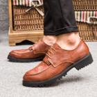 Croc Grain Genuine-leather Oxfords