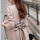 Piped Trench Coat With Sash