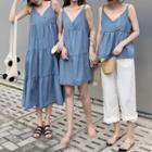 Ruffle Camisole Top / Strappy A-line Dress / Strappy Midi Dress