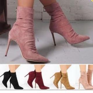Kitten-heel Short Boots