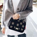 Star Embroidered Chain Shoulder Bag