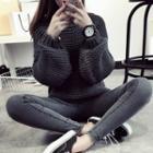 Chunky Puff Sleeve Sweater