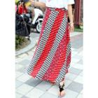 Geometric Pattern Wrap Skirt