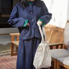 Checked Cotton Shopper Bag