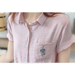 Applique Short-sleeve Shirt