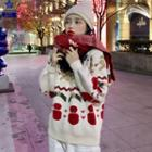 Christmas Pattern Sweater / Knit Scarf