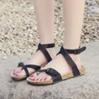 Toe-loop Cross Strap Sandals