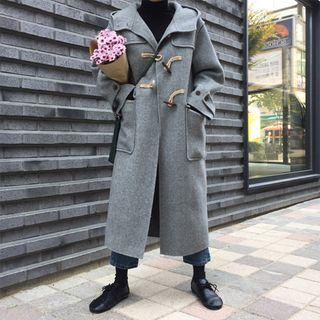 Hooded Toggle Coat As Shown In Figure - One Size