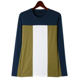 Round-neck Color-block T-shirt