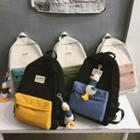 Duck Charm Two-tone Canvas Backpack