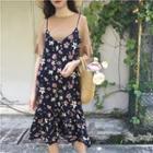 Set: Printed Tee + Floral Printed Dress