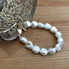 Bold Faux-pearl Bracelet Ivory - One Size
