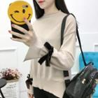 Ribbon Sleeve Sweater