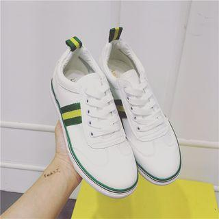 Contrast Trim Lace Up Sneakers