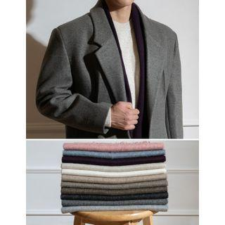 Fringed Woolen Muffler Scarf In 17 Colors
