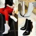 Pointy High Heel Ankle Boots