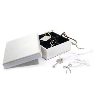Santas Greeting Box Pendant Set (heart, Key, Bnvelope & Bow)