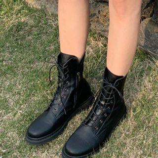 Lacing-up Military Boots