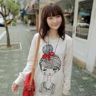 Doll-print Pullover
