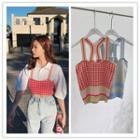 Sleeveless Pattern Knit Top