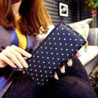 Faux-leather Patterned Long Wallet