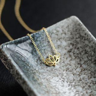 Lotus Sterling Silver Pendant Necklace