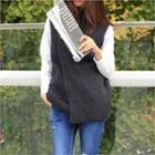 Mock-neck Sleeveless Wool Blend Knit Top