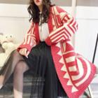 Patterned Long Chunky Cardigan