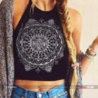 Strappy Printed Top