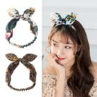 Floral Rabbit Ear Headband