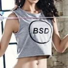 Lettering Sports Cropped Tank Top