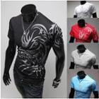 Short-sleeve Dragon Printed T-shirt